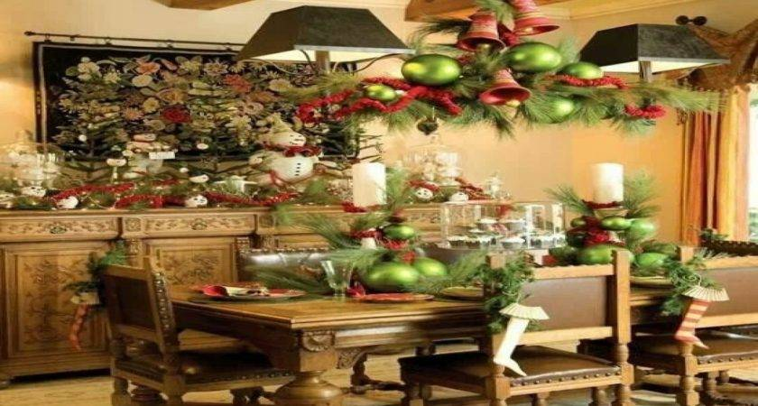 Christmas Decorations Dining Room Table