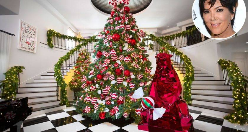 Christmas Kris Jenner Shows Off Kandyland Chic Holiday