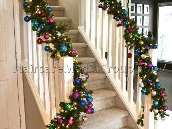 Christmas Staircase Garland Ideas Best