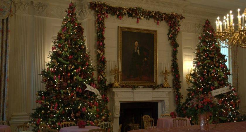 Christmas Trees State Dining Room White