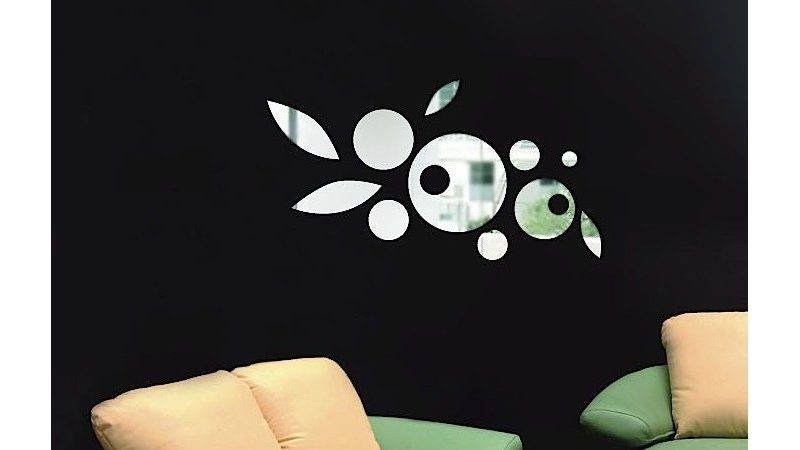 Circle Mirror Stickers Design Adhesive