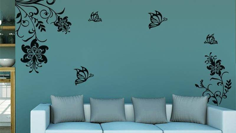 Classic Flowers Vine Wall Stickers Home