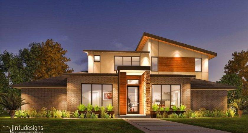 Classic House Design Exterior Rendering Front Elevation