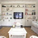 Classic Living Room Storage Furniture Ideas White