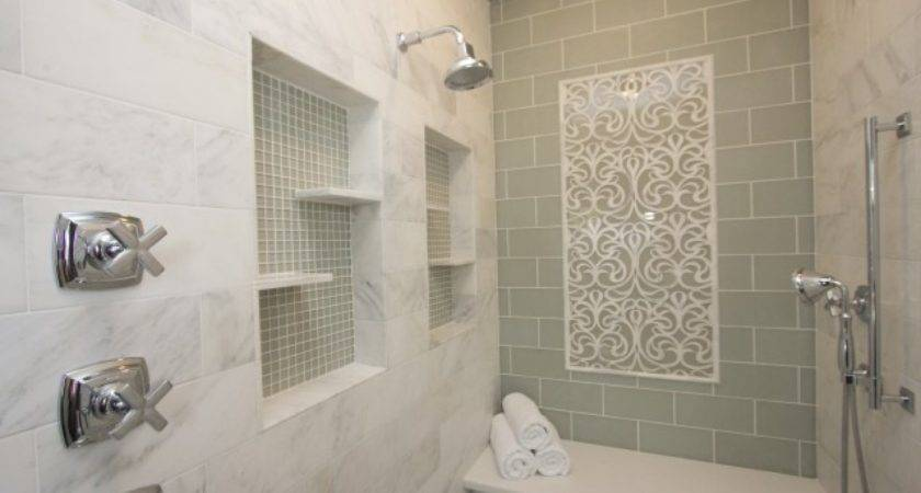 Clear Glass Bathroom Tiles