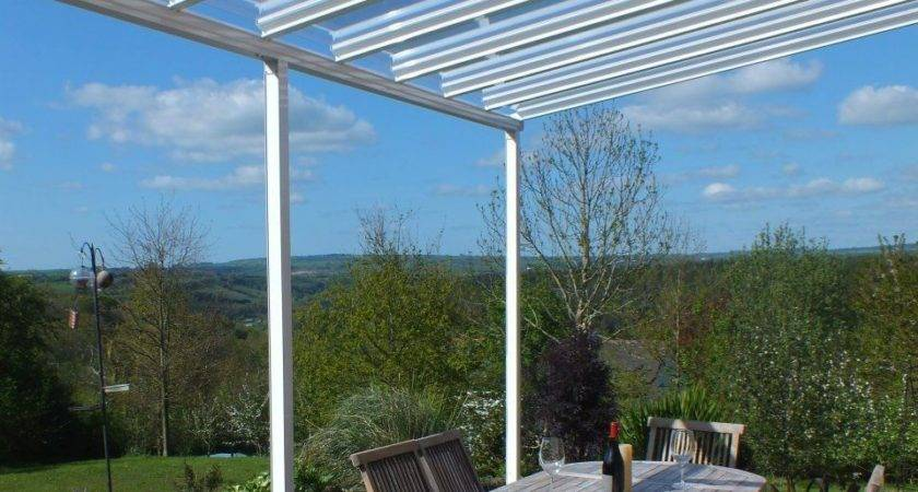 Clear Glass Carport Patio Canopy Cover Lean Awning