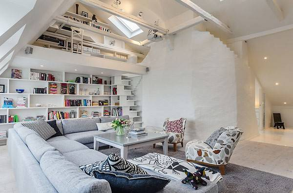 Clever Design Ideas Lovely Stockholm Attic Apartment