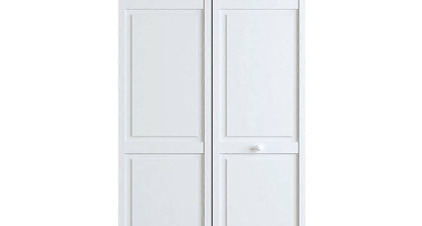 Closet Door Fold Six Panel Solid Wood Primed White Ebay