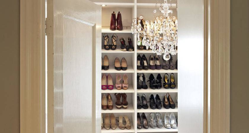 Closets Luxury Walk Closet Shoes Storage Great Design