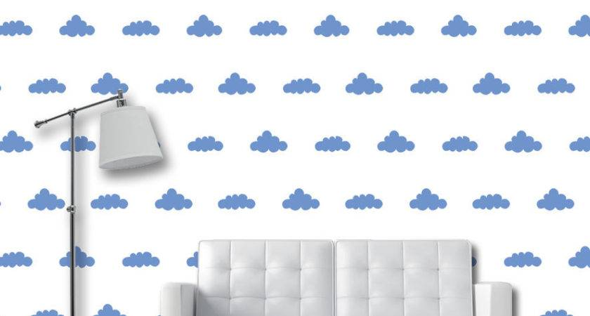 Clouds Self Adhesive Temporary Removable Wall
