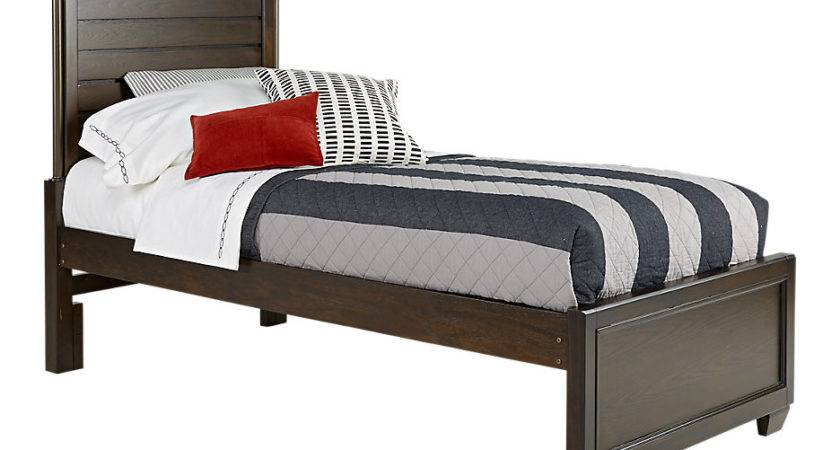 Clubhouse Chocolate Twin Panel Bed Beds Dark Wood