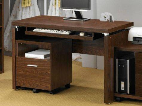 Coaster Brown Wood Computer Desk Steal Sofa