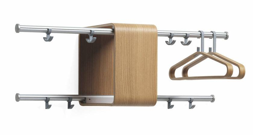 Coat Hook Wall Mounted Modern Stainless Wooden
