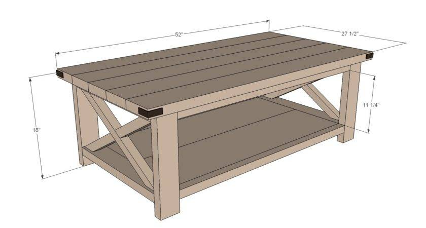 Coffee Table Height Rustic
