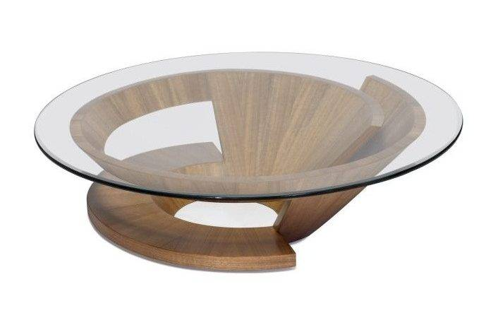 Coffee Tables Round Storage Wooden Table