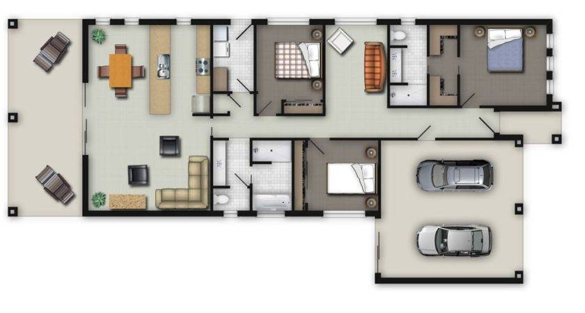 Color Floor Plan Residential Plans
