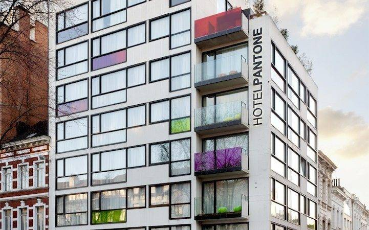 Colorful Modern Hotel Design Inspired Pantone Swatches
