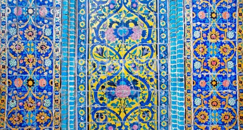 Colorful Patterned Wall Tiles Historical Persian