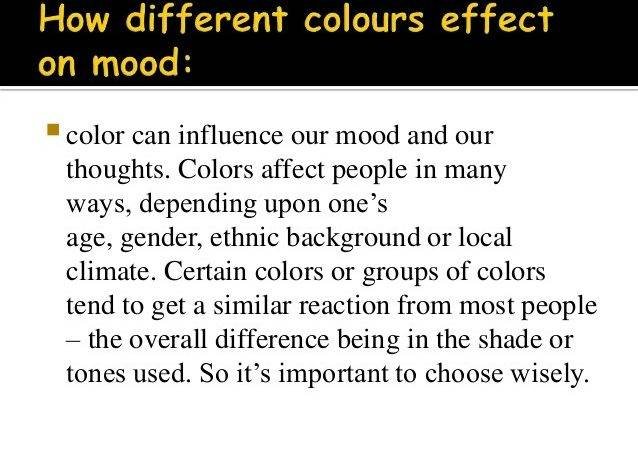 Colors Affect Mood Great Board