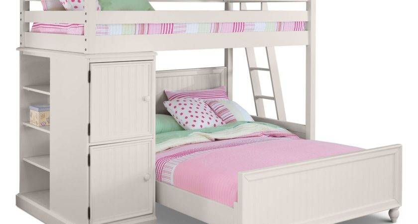 Colorworks Loft Bed White American