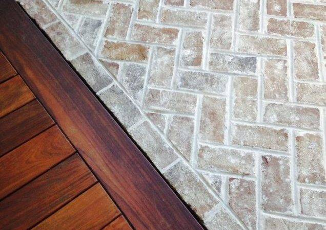 Combine Natural Stone Wall Brown Ceramic Tile