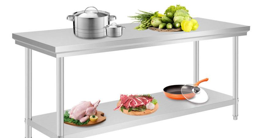 Commercial Stainless Steel Kitchen Work Bench Top Food