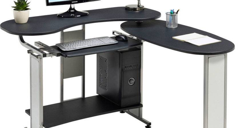 Compact Folding Computer Desk Shelf Home Office