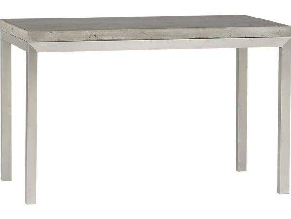 Concrete Top Matte Stainless Steel Base Dining Table