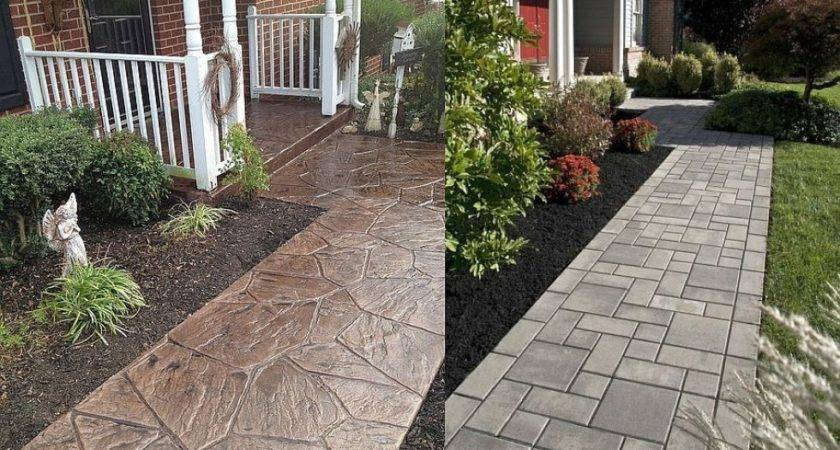 Concrete Walkway Ideas Home Design Stamped