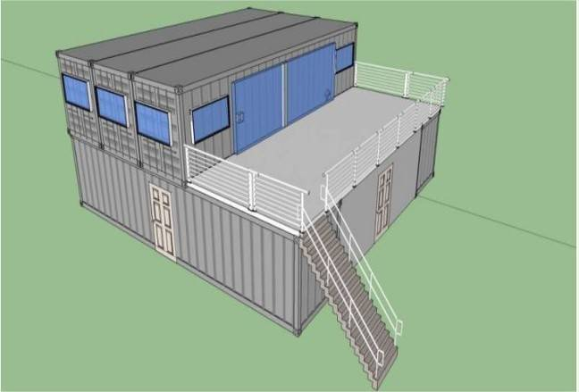 Container Homes Drawing Plans Wooden Home