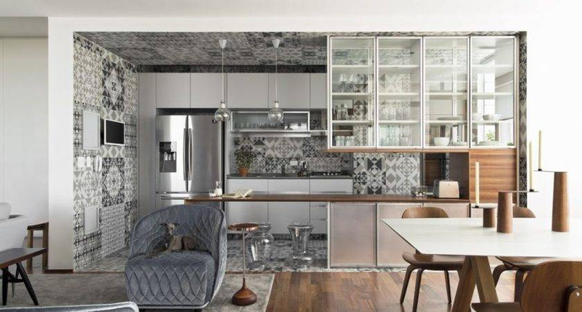 Contemporary Apartment Brazil Pops Bold Italian