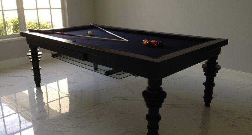 Contemporary Convertible Pool Tables Dining Room