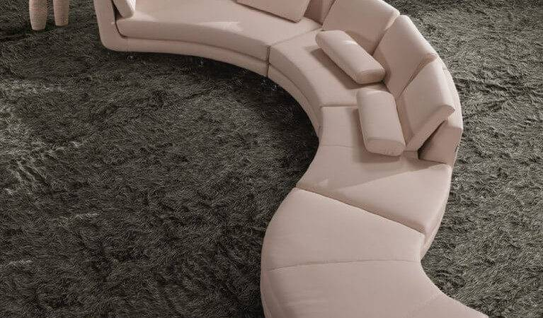 Contemporary Curved Round Sectional Sofas