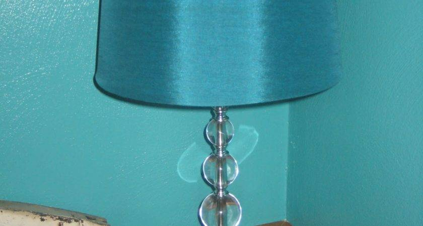 Contemporary Living Room Turquoise Satin Table Lamp