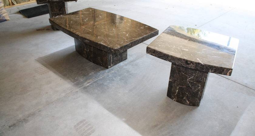 Contemporary Marble Coffee End Tables Bargainsgalore
