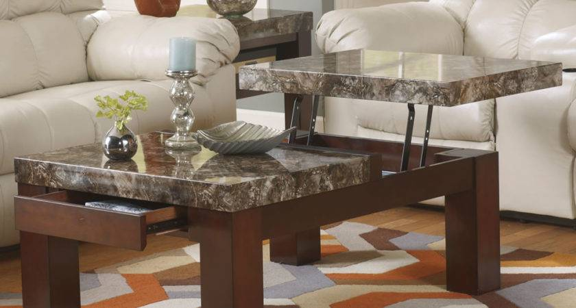 Contemporary Marble Top Coffee Table Liberty Interior