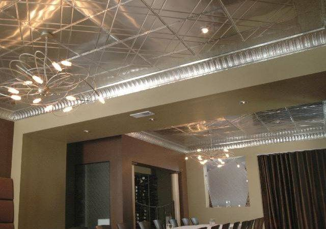 Contemporary Metal Ceiling Decorative Tiles