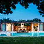 Contemporary Pool House Hamptons Contemporist