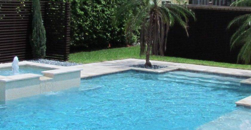 Contemporary Pool Pools Lafayette