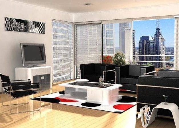 Contemporary Small Apartment Living Room Furniture