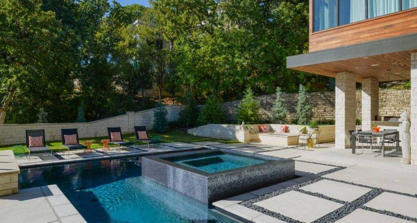 Contemporary Swimming Pool Raised Beds Alana