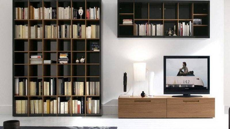Contemporary Wooden Wall Mounted Bookcase Stroovi