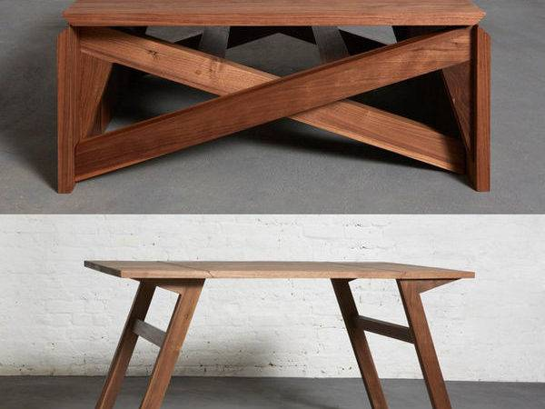 Convertible Wooden Furniture Transforming Coffee Table