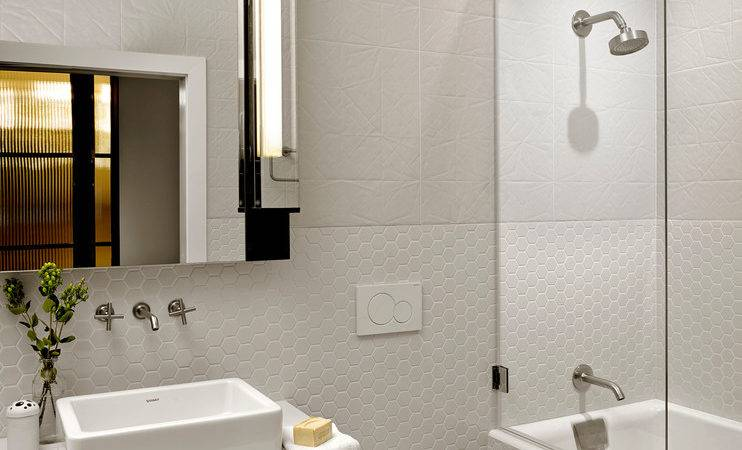 Cool Bathroom Mirrors Powder Room Contemporary Brown
