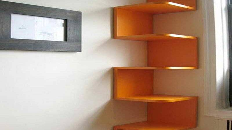 Cool Bedroom Shelves Home Design Interior