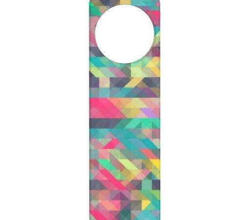 Cool Colorful Geometric Triangles Pattern Door Hanger Zazzle