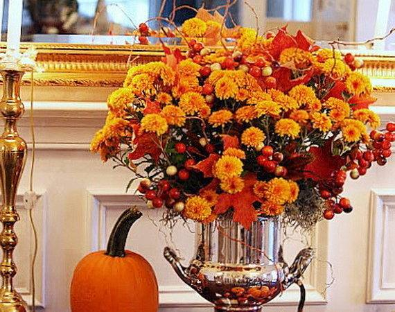Cool Fall Flower Centerpiece Table Cor