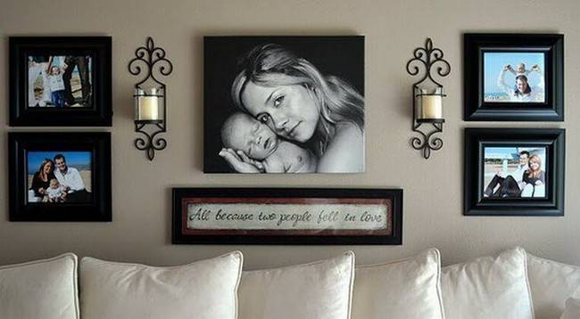 Cool Ideas Display Photos Your Walls