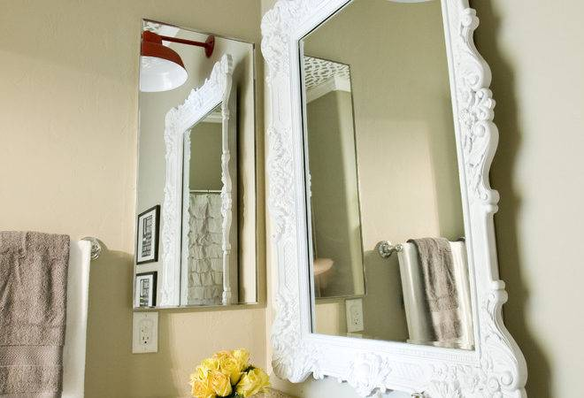 Cool Make Framed Mirror Bathroom