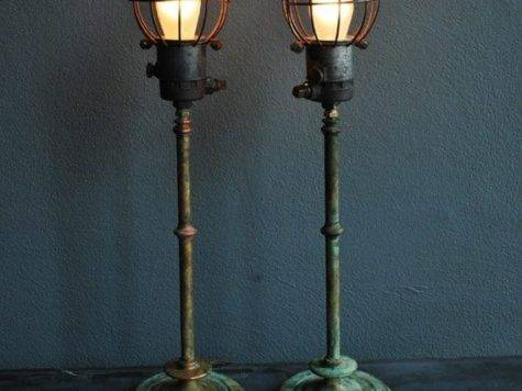 Cool Standing Lamp Industrial Eclectic Look Vintage